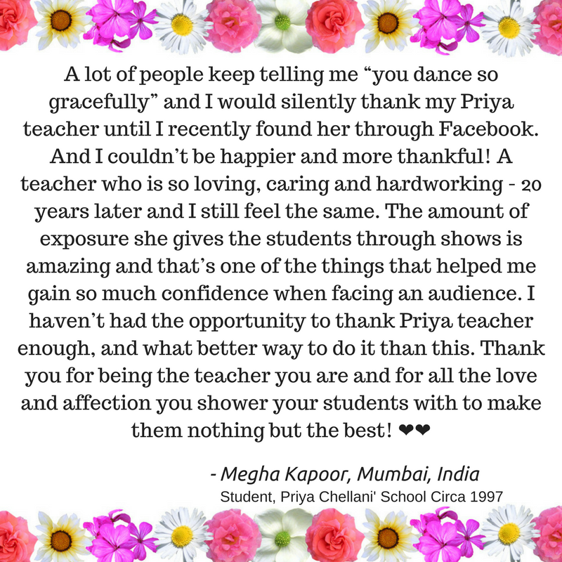 Owe dance teacher a thank-you
